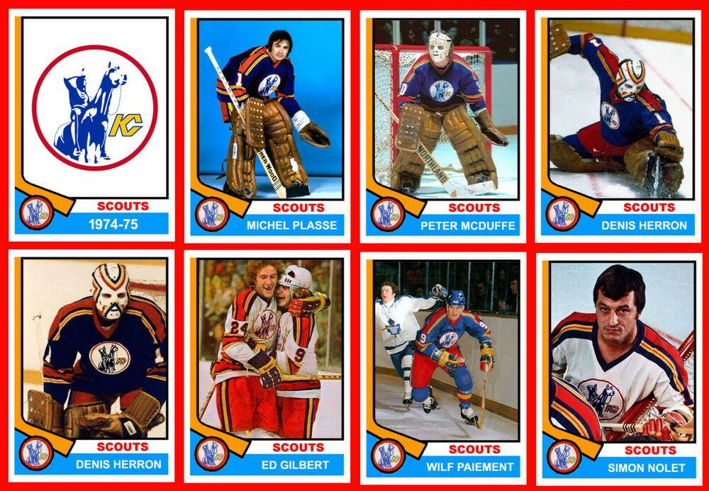 KANSAS CITY SCOUTS 197475 Hockey Card Style Fridge