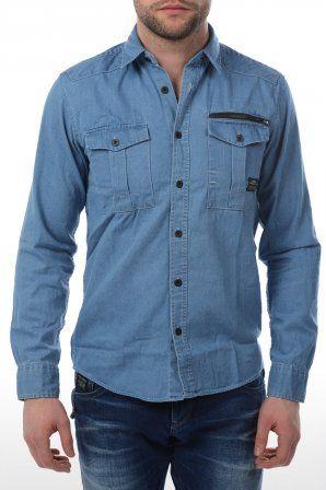 Jack & Jones Core overhemd Jack & Jones Core overhemd Kevin Shirt L/s Light Blue Denim » JeansandFashion.com