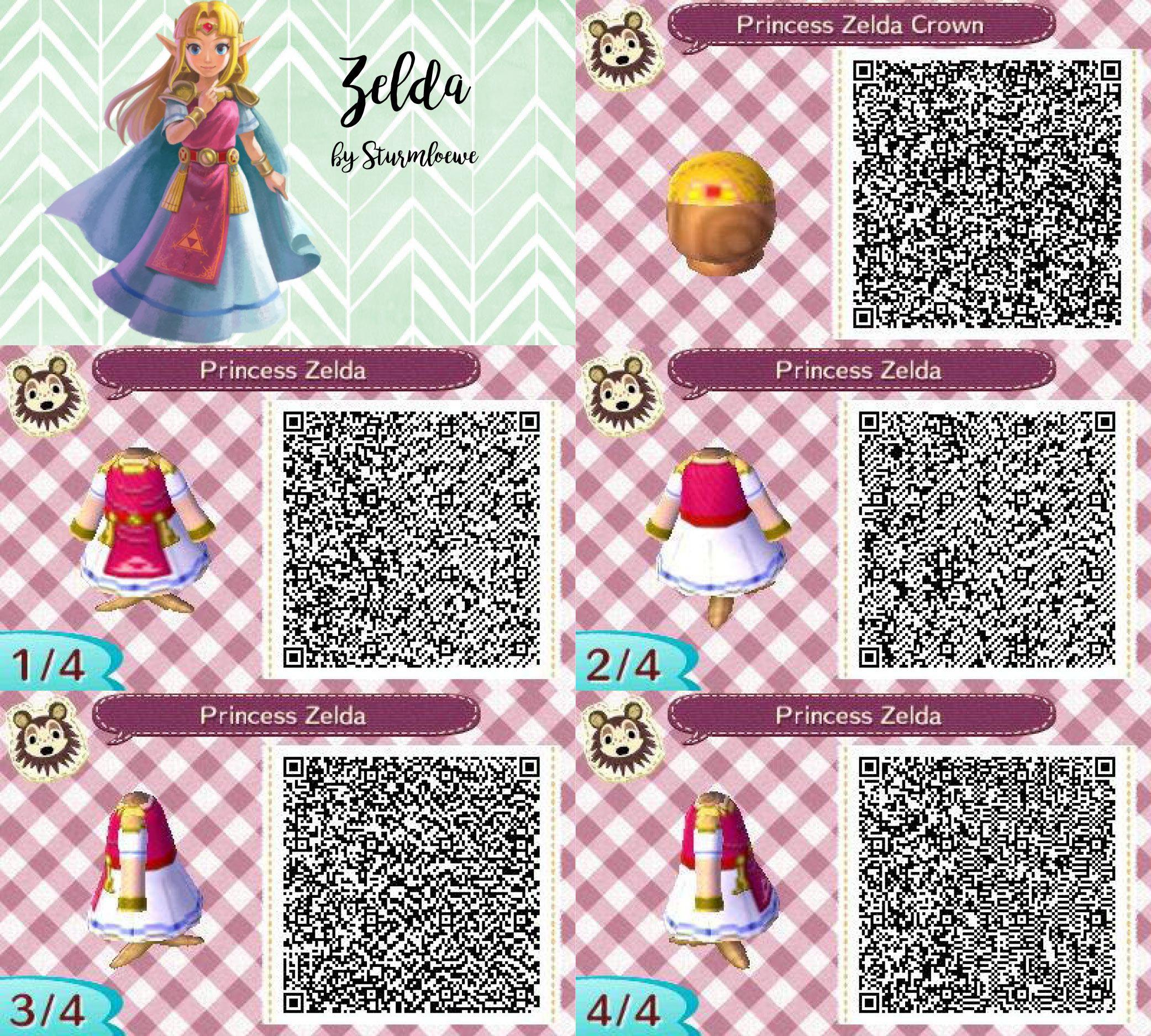 Animal Crossing New Leaf Qr Code The Legend Of Zelda A Link Between Worlds Princess Zelda Of Hyr Animal Crossing Hair Animal Crossing Game Animal Crossing 3ds