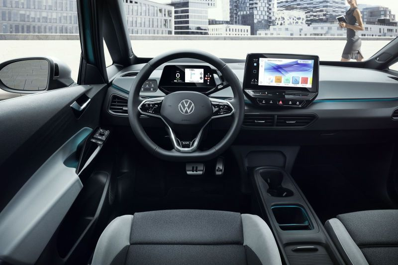 The 2020 Volkswagen Id 3 Aims To Be A 341 Mile Electric People S Car Volkswagen Electric Cars All Electric Cars