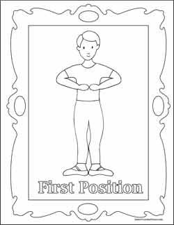 Ballet Coloring Boy First Position Dance Crafts Ballet Positions