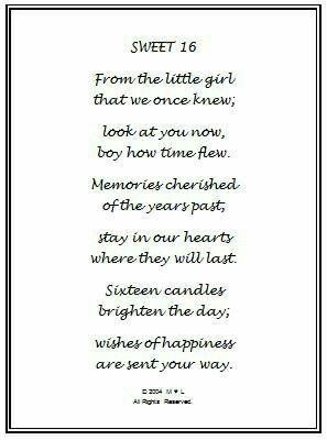 16e Verjaardag Gedicht.Sweet 16 Poem Sweet 16 Cadeaus 16e Verjaardag En