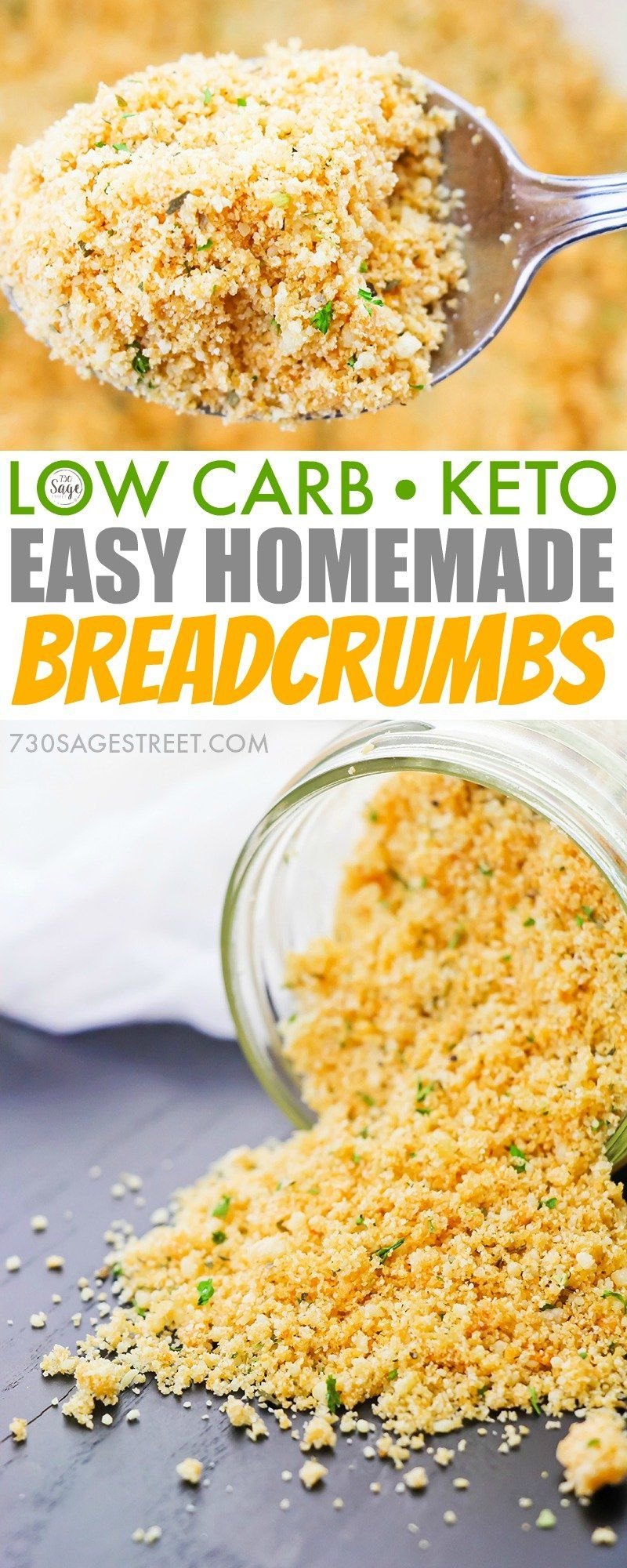 Easy Homemade Low Carb Breadcrumbs Recipe Keto Glutenfree Low Carb Keto Recipes Keto Recipes Easy Keto Diet Recipes