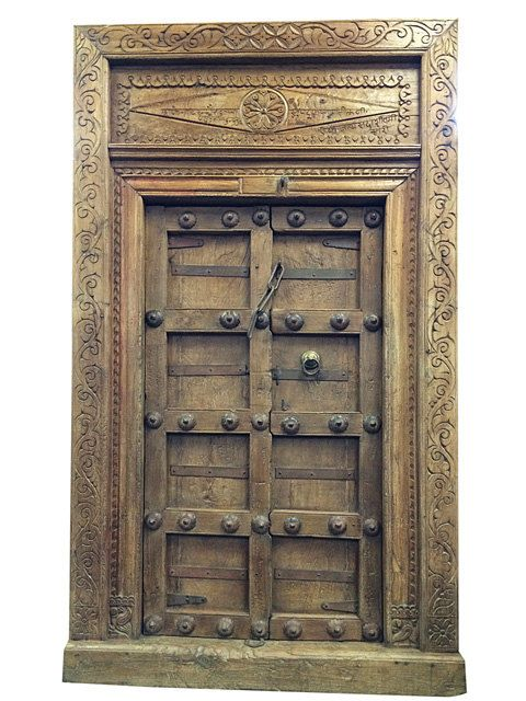 Mughal Inspired Antiques Double Door-India Classic By