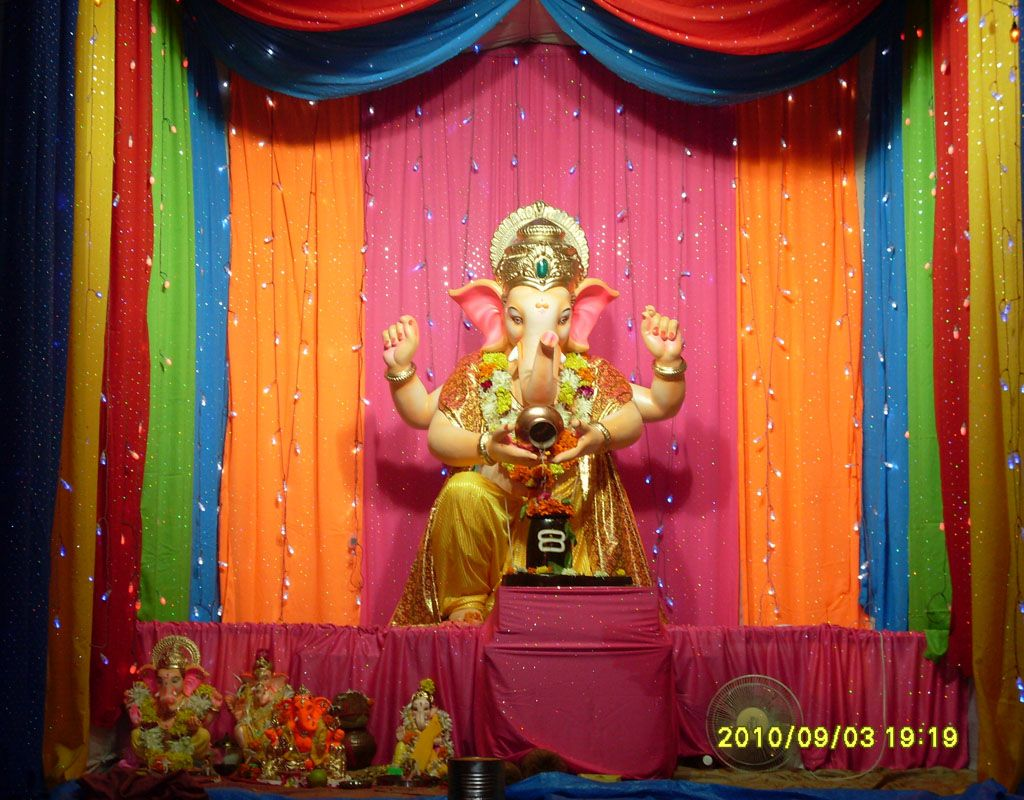 Ganesh chaturthi decoration images for home ganesh for Decoration ganpati