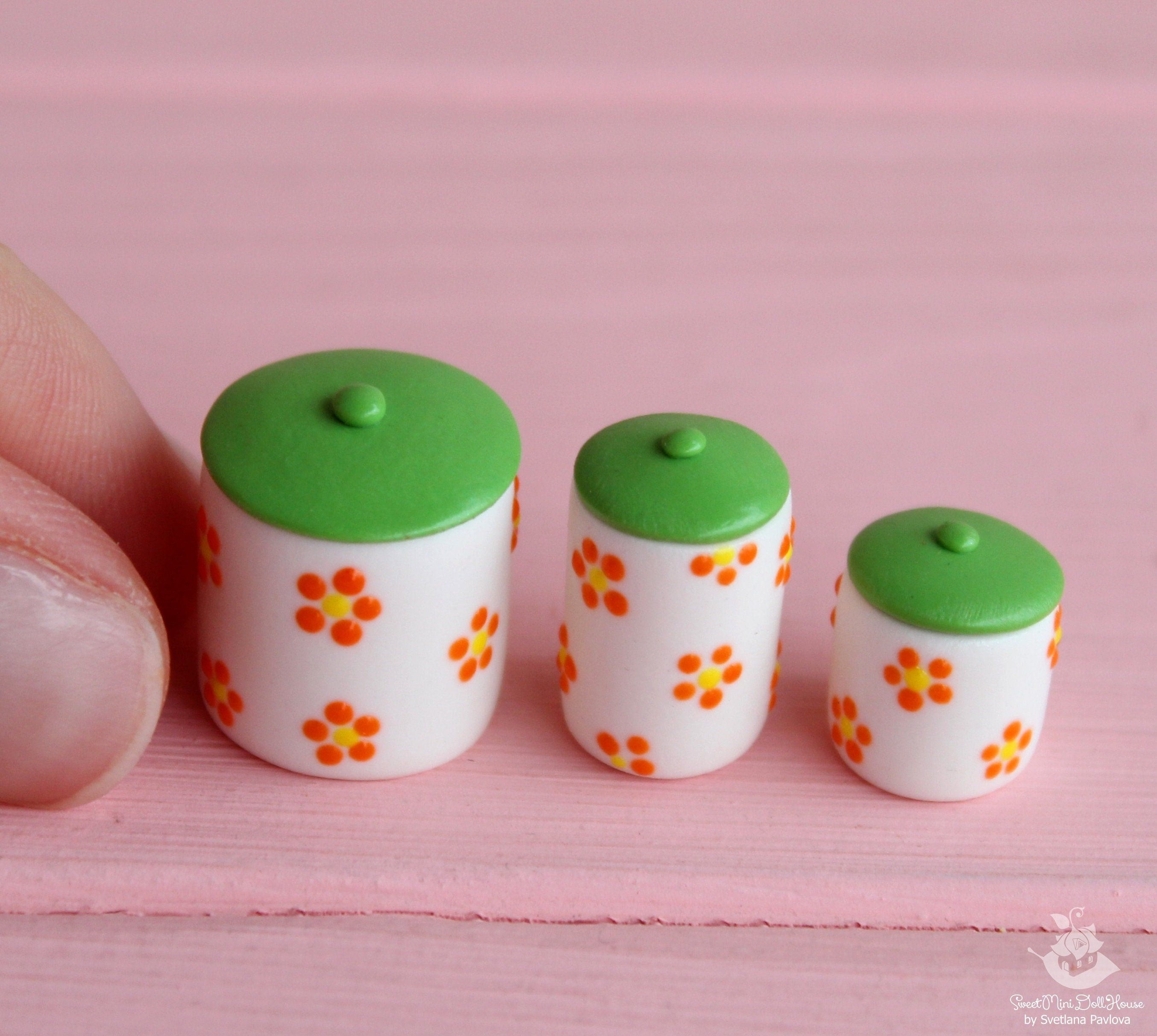 Miniature kitchen utensil. Set of cans with pasta. Polymer clay. Handmade. Dollhouse. Miniature kitchen. Doll food. Doll kitchen #miniaturekitchen