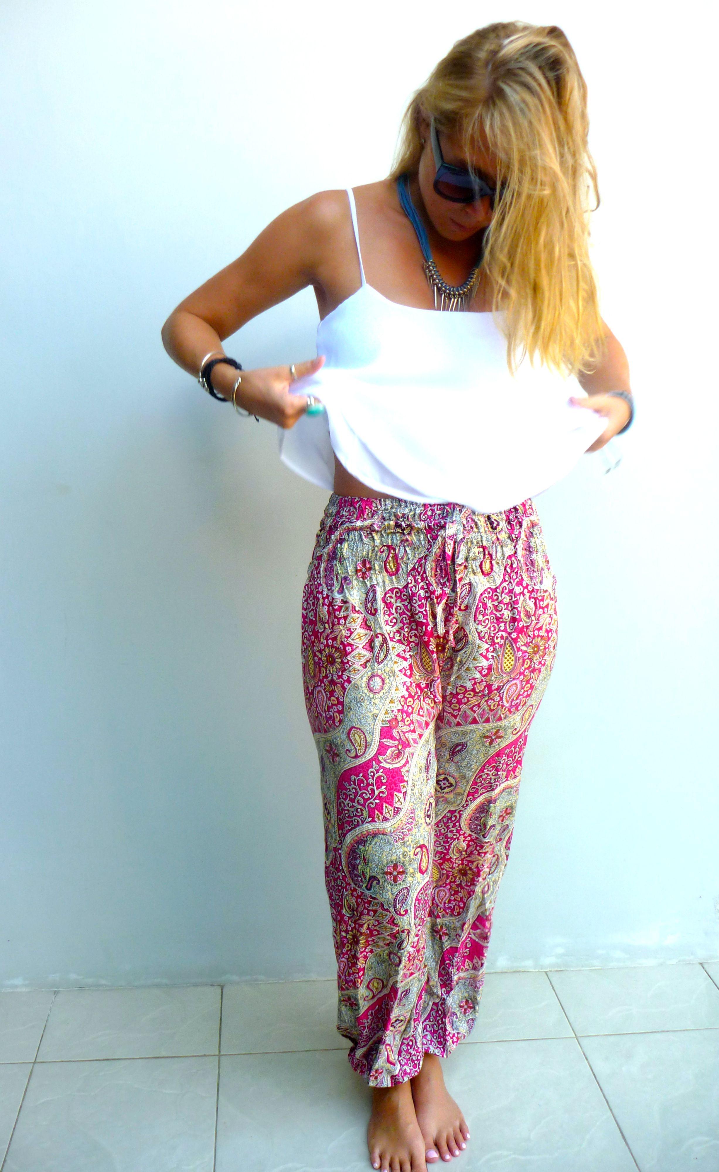 ccd721f950f4 Bali Wanderlust Boho Harem Pants -  Paisley Pinks   20 + more colors styles