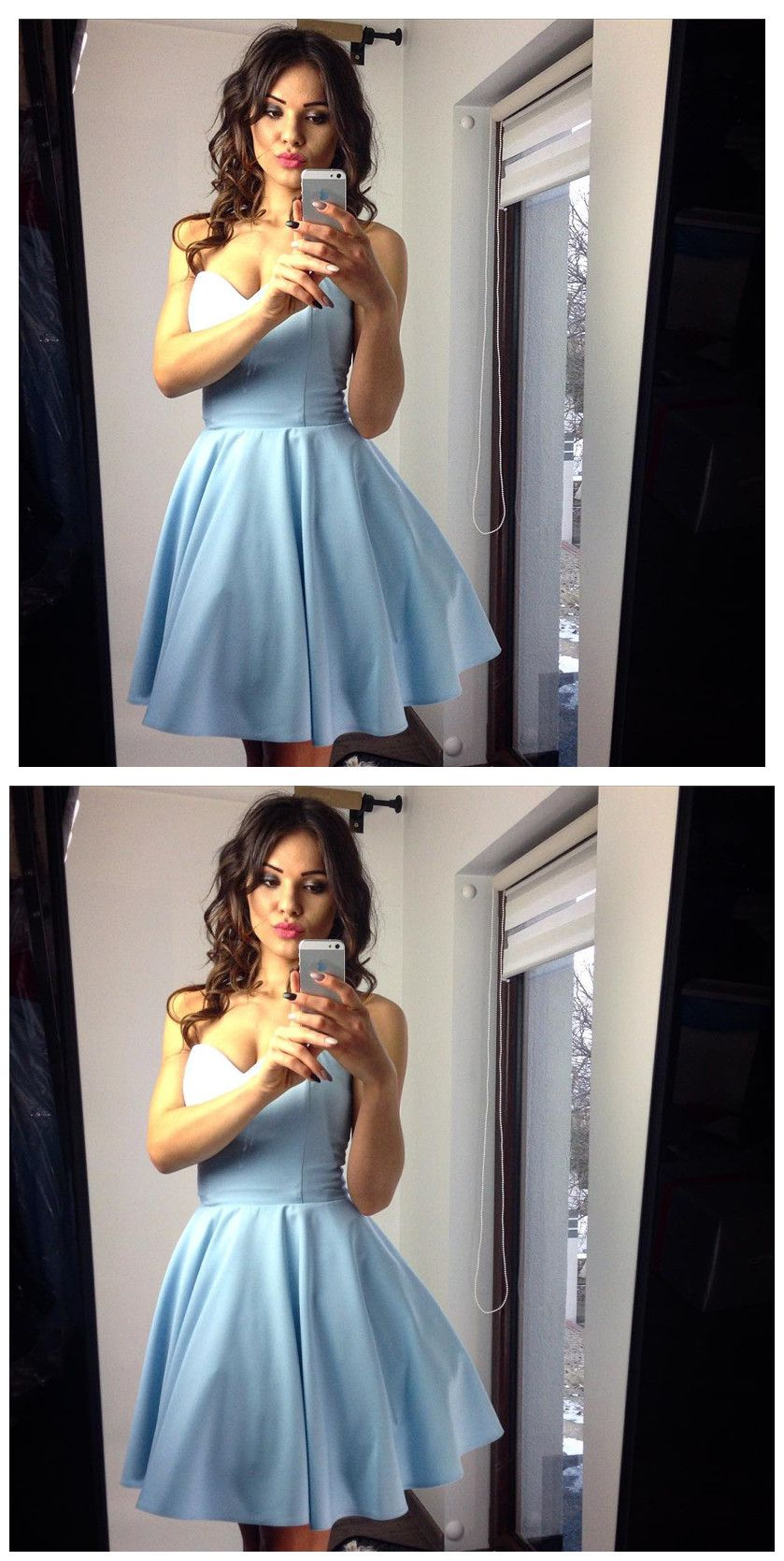 Homecoming dresses lace homecoming dressesflare and fitted satin