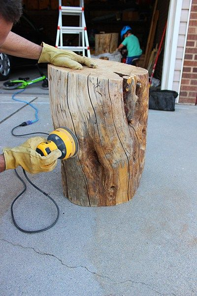Diy Tree Stump Table Stump Coffee Table Tree Stump Coffee Table