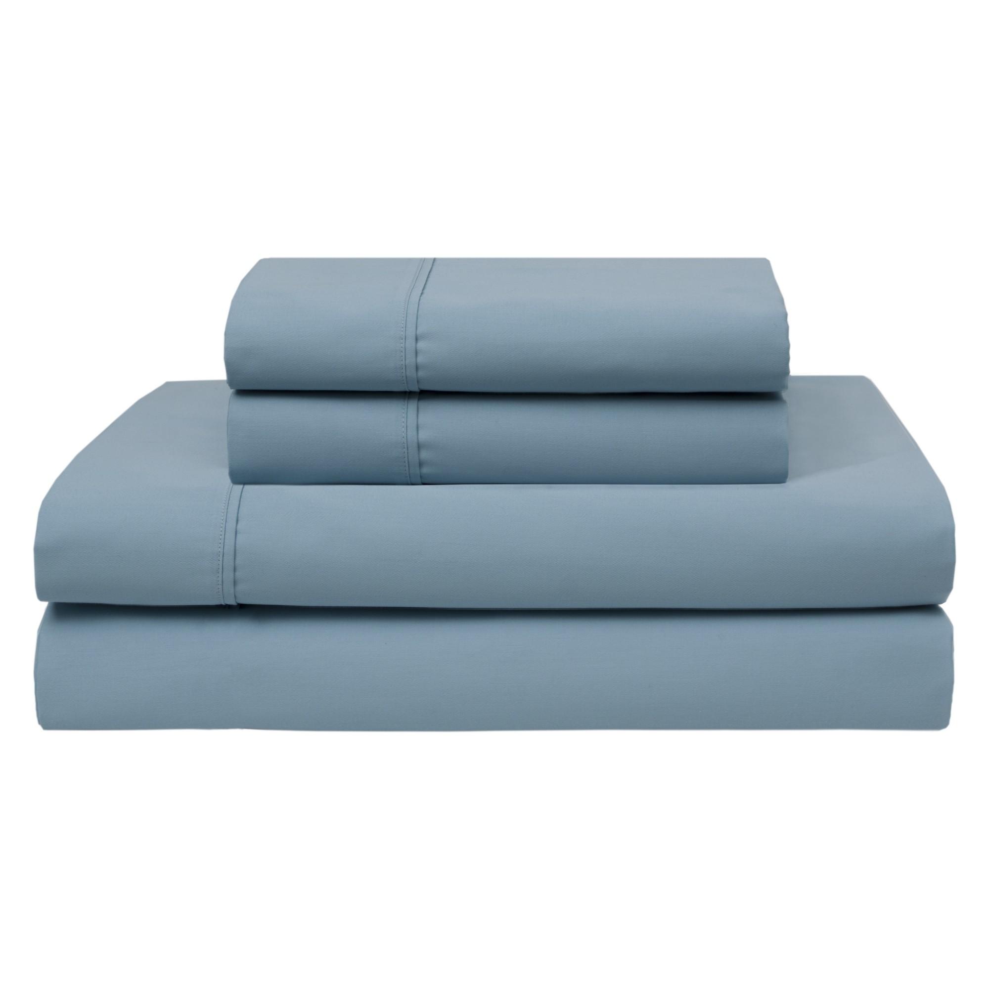 Wrinkle Free 420 Thread Count Cotton Sheet Set (California King) Iced Aqua    Elite