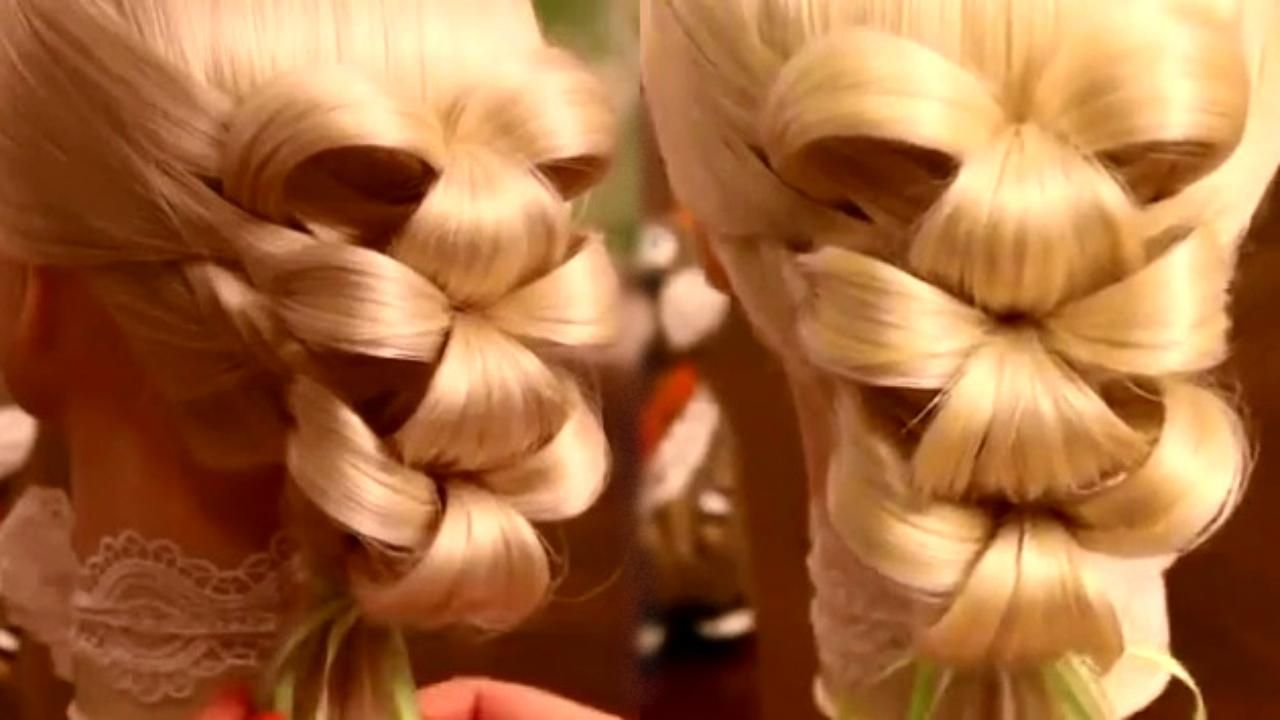 Bubble Bow Hairstyle With Linked Tutorial Bow Hairstyle Fancy Braids Butterfly Hairstyle