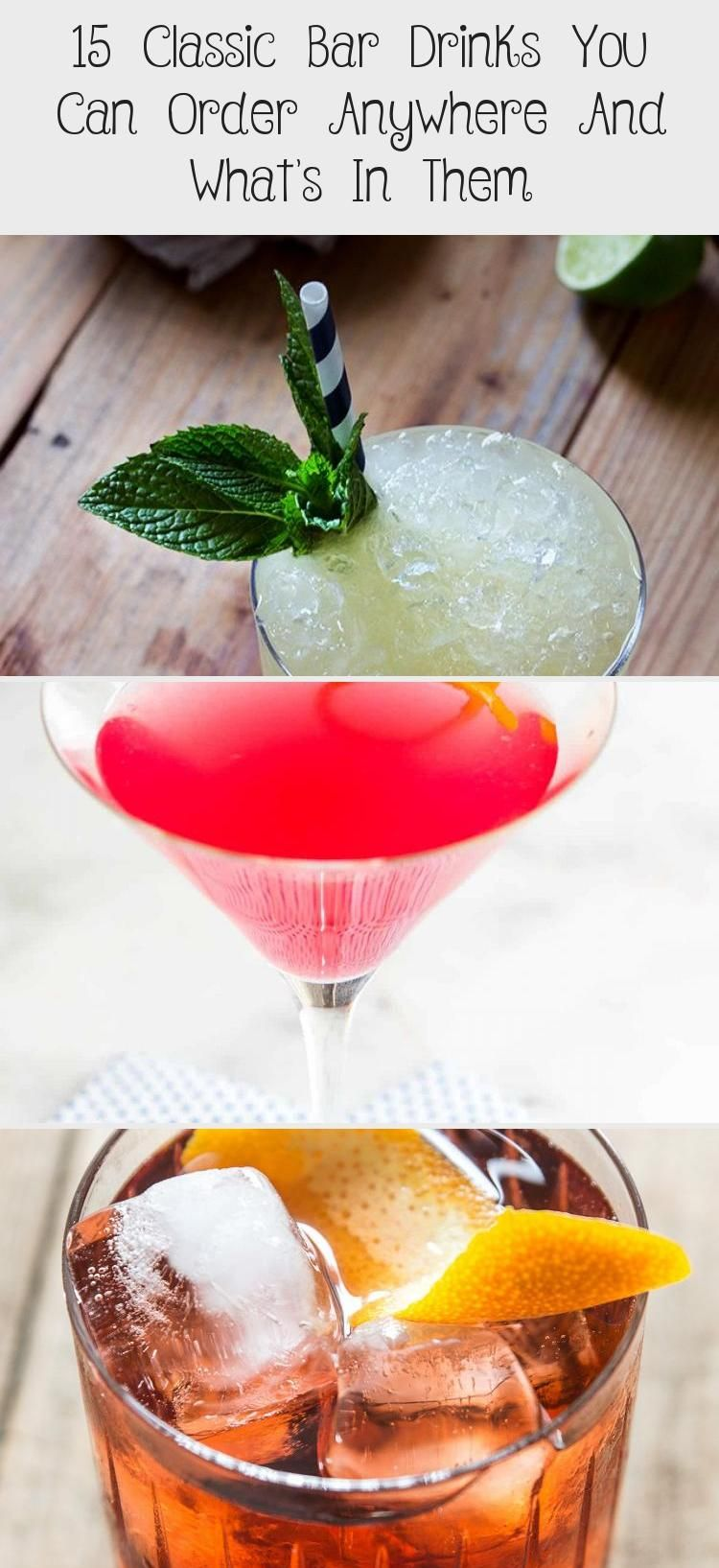 15 Classic Bar Drinks You Can Order Anywhere And What's In Them – Society19 #Chr…