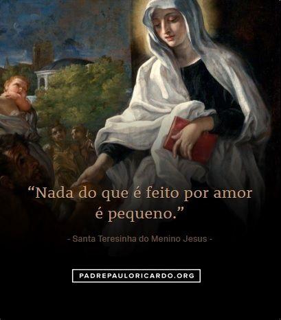 Santa Teresinha Do Menino Jesus E Da Sagrada Face Frases Nada Do
