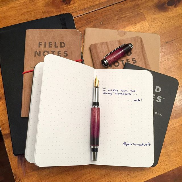 """Turned another """"purple flame"""" pen over the weekend. I still can't get over the richness that the heat brings out in the wood."""