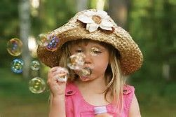 Little kids blowing bubles - Bing images