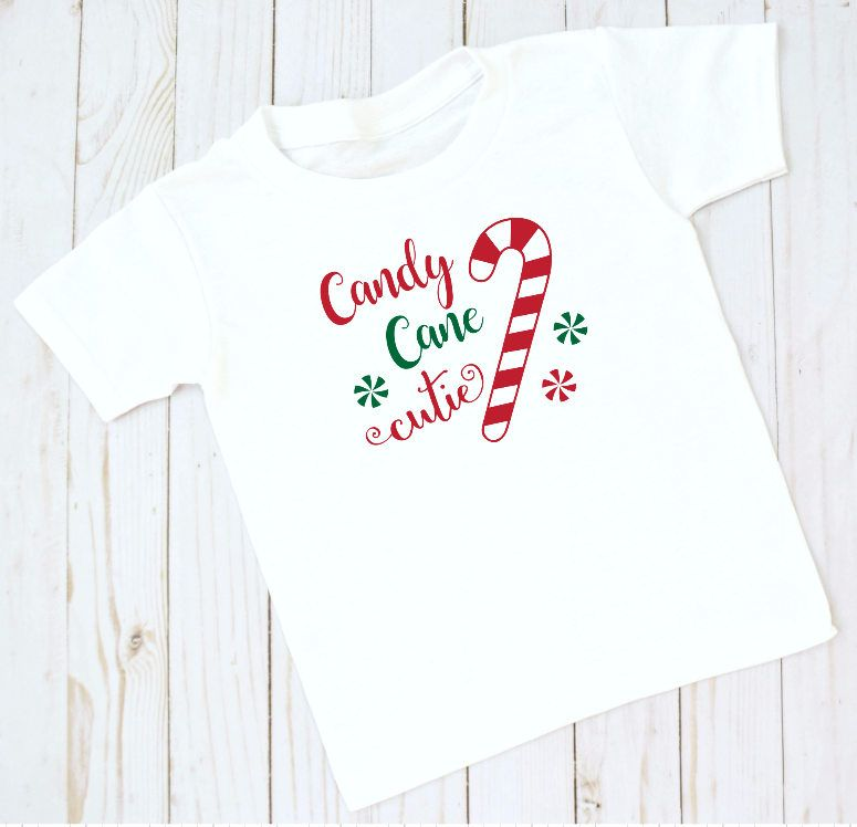92f07668 Youth Christmas T Shirt, Candy Cane Cutie, Little Girl Christmas Shirt,  Holiday Shirt by AnnieGraceStudios on Etsy