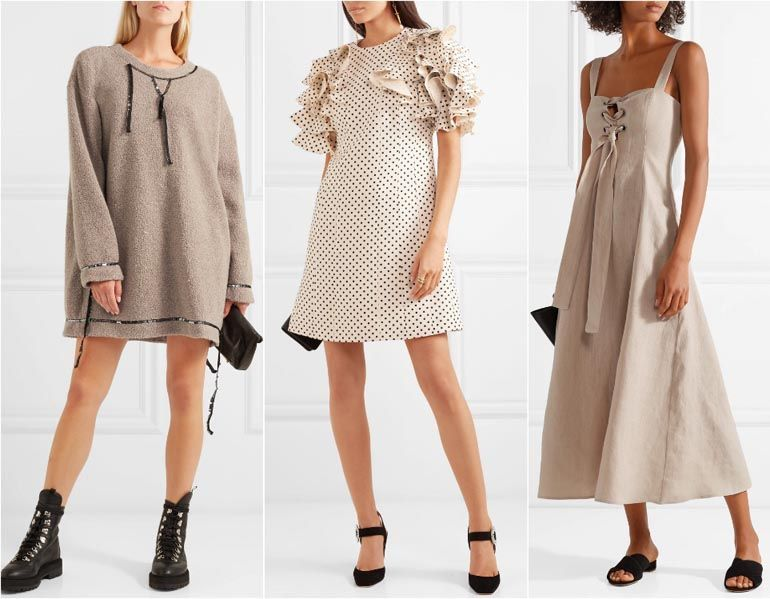 Pin By Nekotangerine On Comfy Everyday Looks For Girls Beige Dress Outfit Outfits Beige Dresses