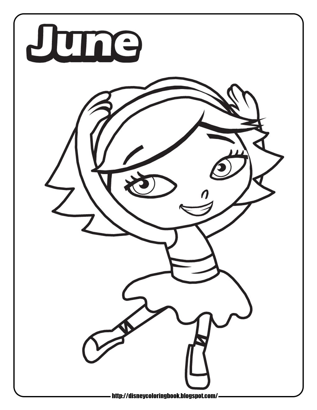Free disney junior colouring pages - Top 10 Free Printable Little Einsteins Coloring Pages Online
