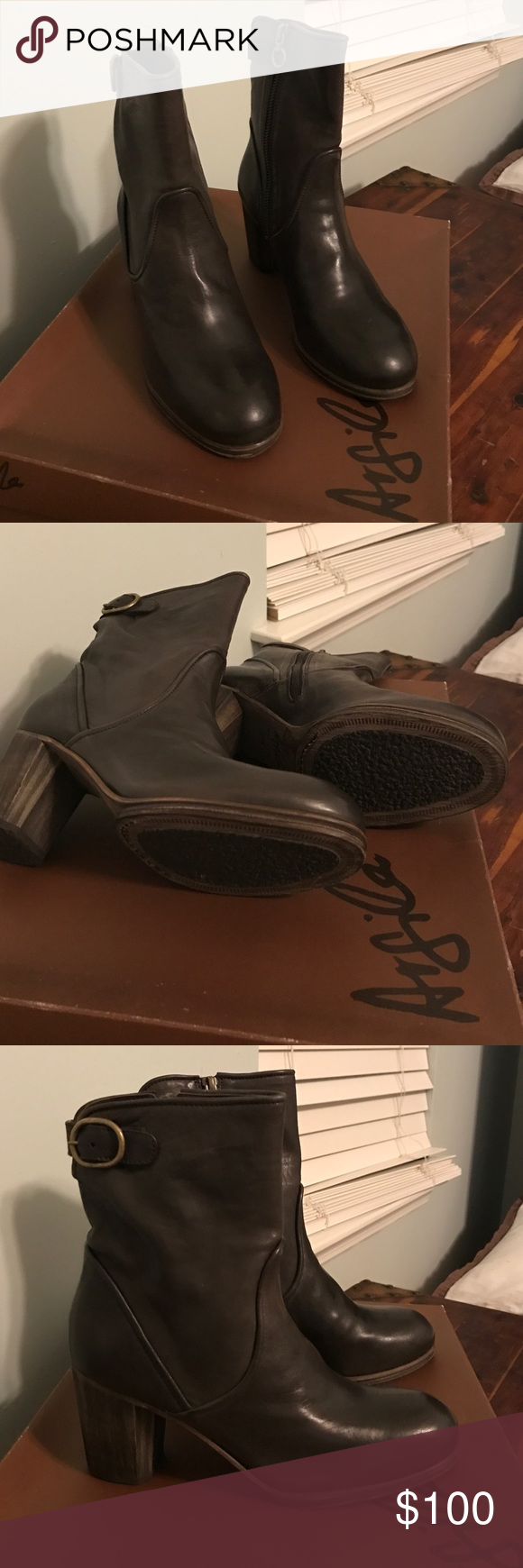 Argila brown leather boots Gorgeous brown leather.  Made in Spain.  Brand Argila.  Size 37.5- US 7.5 equivalent.  Never worn- new condition. Original box. All leather including soles with rubber foot and toe pads in sole. Shoes Ankle Boots & Booties
