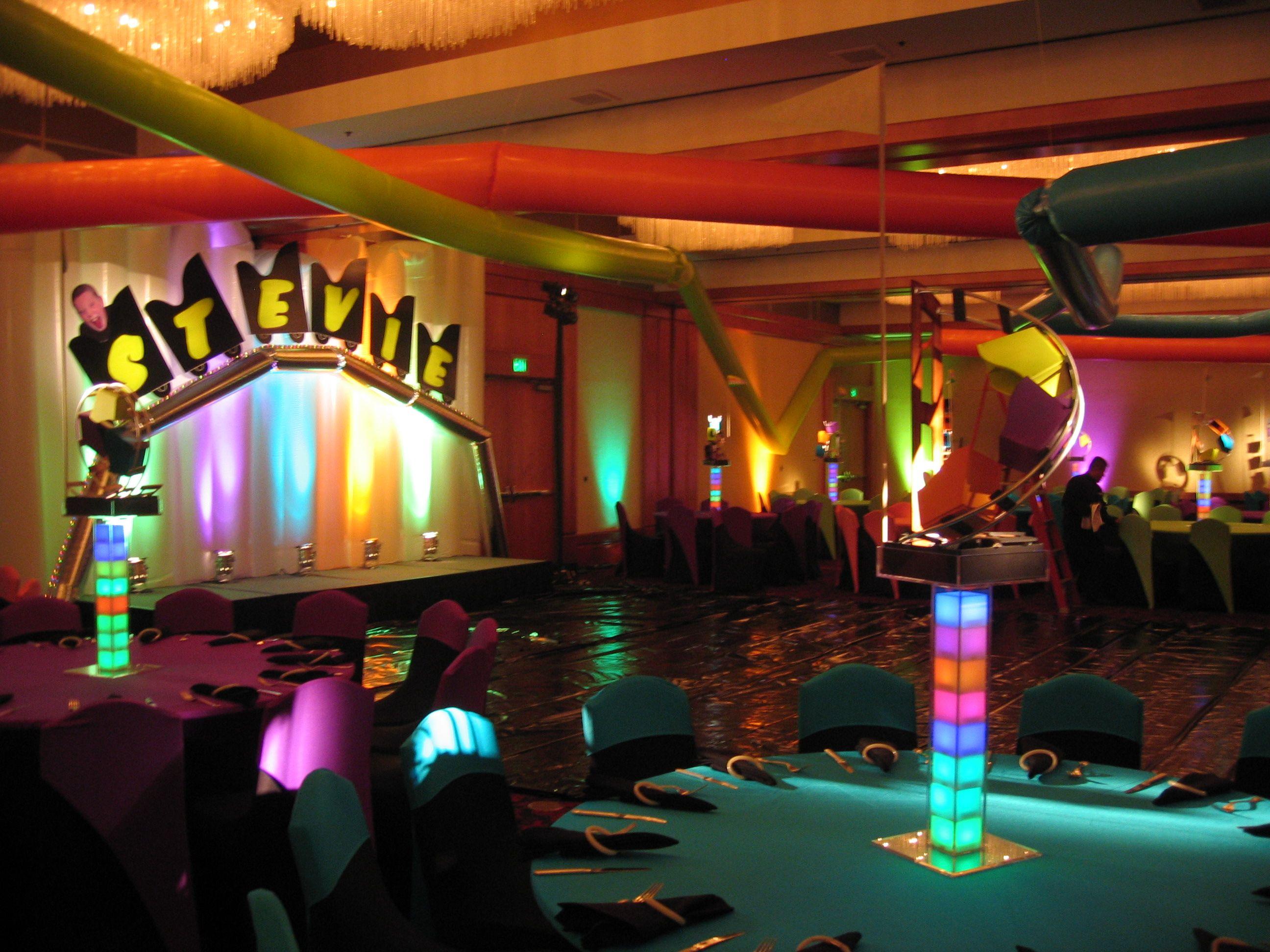 Bar Mitzvah Roller Coaster Theme Room