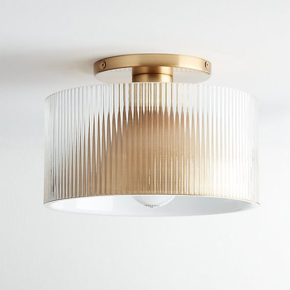 Fluted Ribbed And Reeded Texture Glass The Seasonal Edit Summer 2019 The Savvy Heart Flush Mount Ceiling Lights Modern Flush Mount Lighting Light Fixtures Flush Mount
