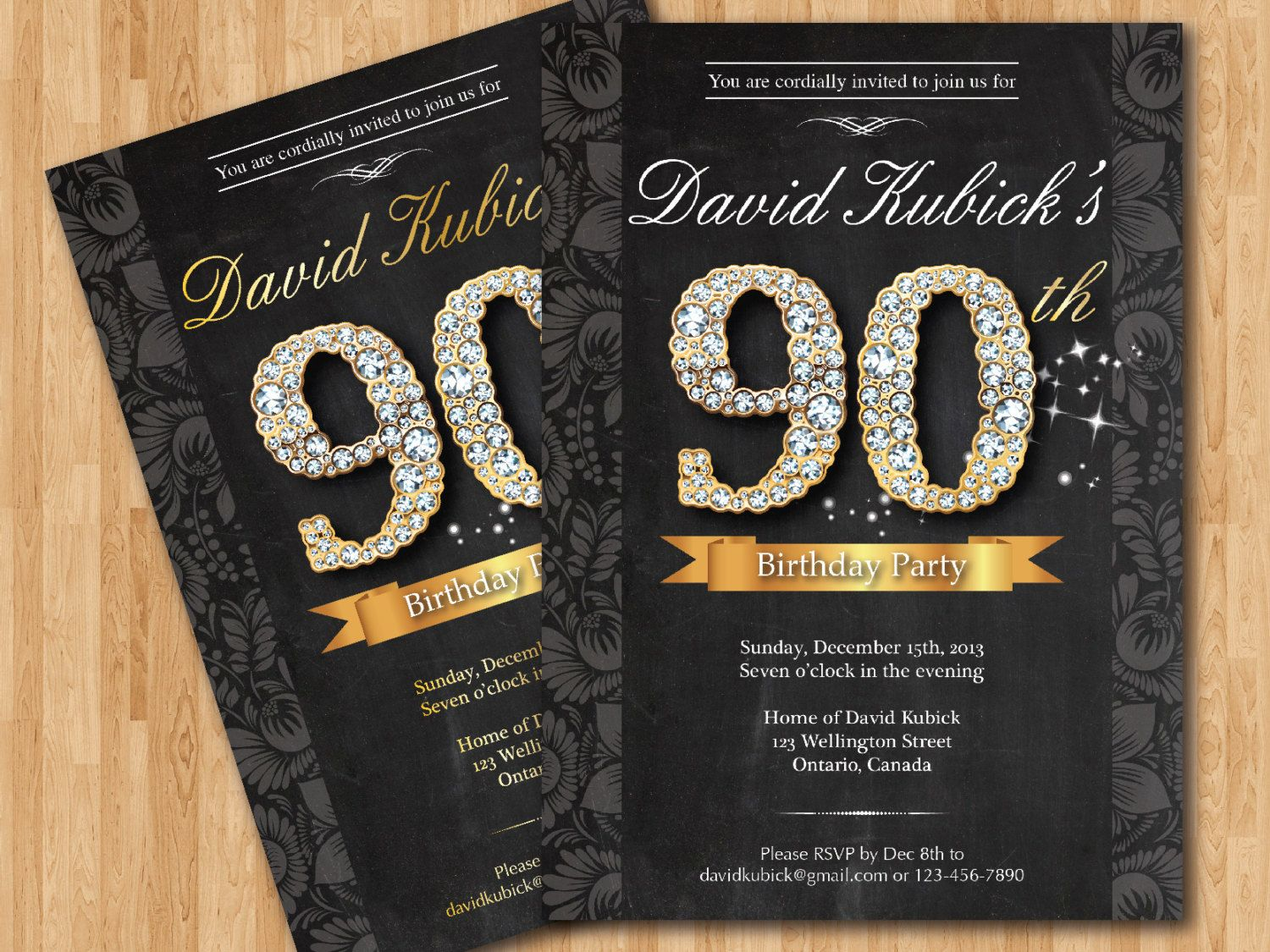 Free Printable 90th Birthday Invitations | Bagvania FREE Printable ...