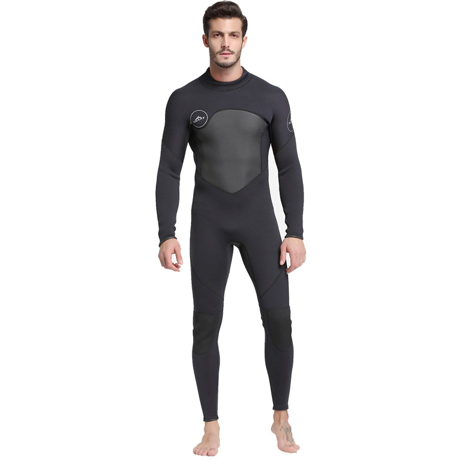 cdc24a96b5 Amazon.com  Cahayi Full Wetsuit 3mm Neoprene Long Sleeve Mens Diving  Surfing Suit Plus Size  Sports   Outdoors