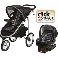 Graco Travel System - not as tall as Baby Jogger, looks like more storage space