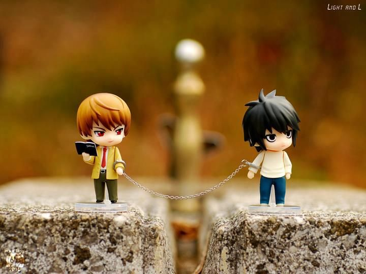 Light and L. Death note.