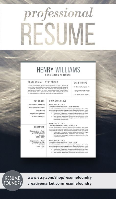 Reference Page Resume Template Fascinating Modern Resume Template For Word 13 Page Resume  Cover Letter  .
