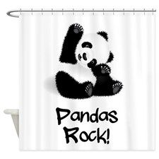 Baby Panda Shower Curtain For