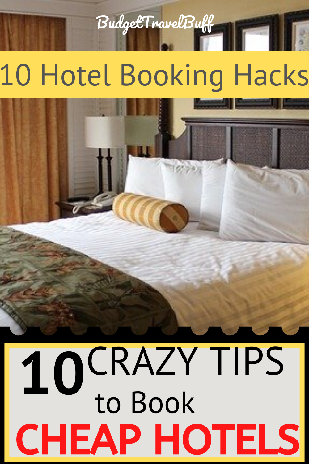 Traveling on a budget? Check out these top 10 secret hacks to find cheap hotel deals and discounts at anywhere. Why spend extra money when you can book insanely cheap hotel just by using tricks on how to find cheap hotels? Bonus: Best and cheap hotel booking sites which are easy too use and can be used as app. #hotelhacks #cheaphotels #findcheaphotels #hotelbookingtips
