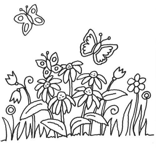 Kostenlose Malvorlagen Fur Blumen Kostenlose Malvorlage Blumen Schmetterlinge Und Blumen Zum Ausmalen Free Blumen Ausmalen Blumen Ausmalbilder Ausmalbilder