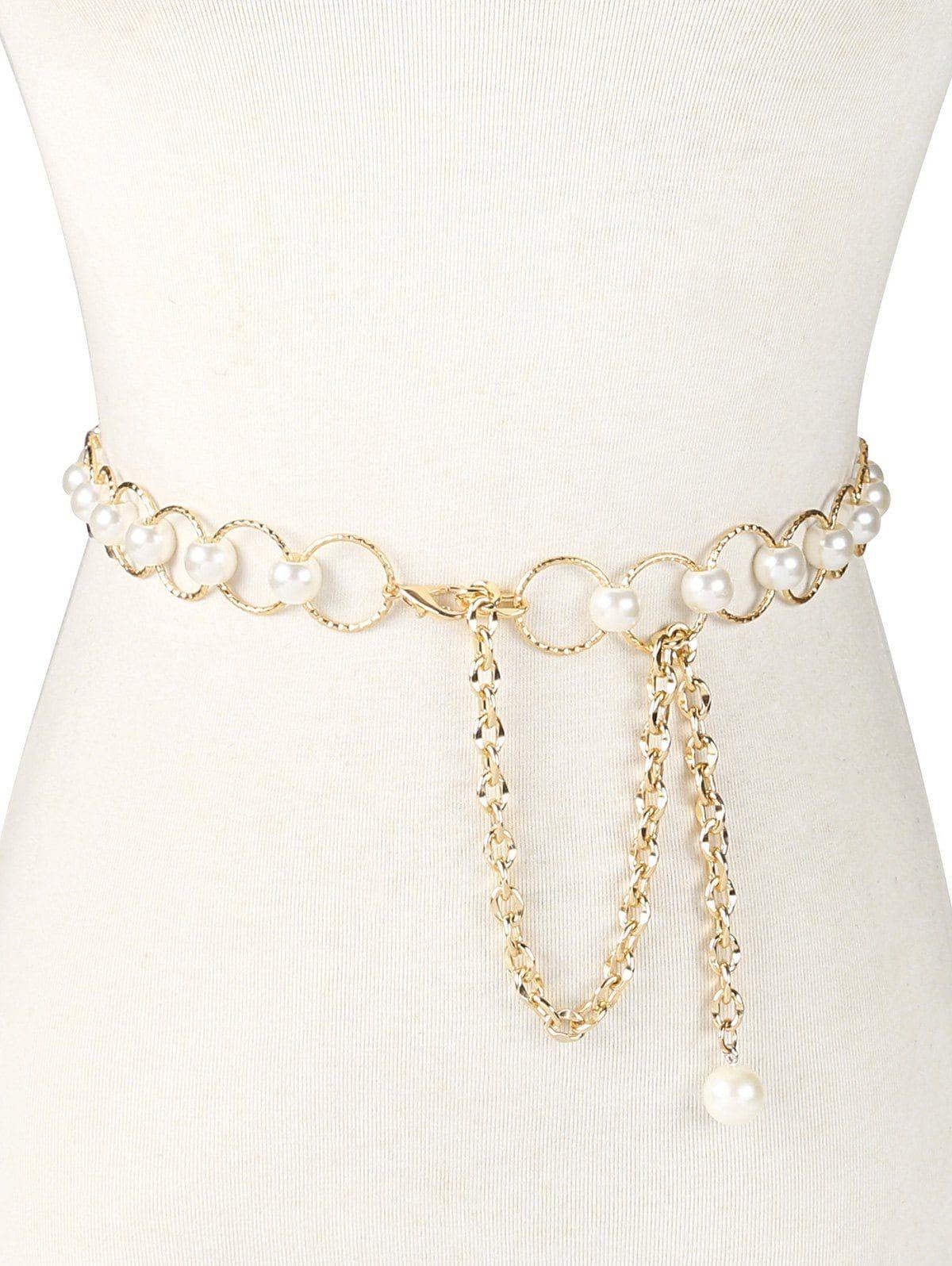 Fashion Metal Waist Chain Gilding Belt Decoration for Dresses Girls Belts Chain
