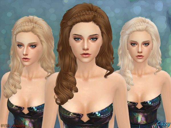 Roulette Hair Female by Cazy at TSR • Sims 4 Updates