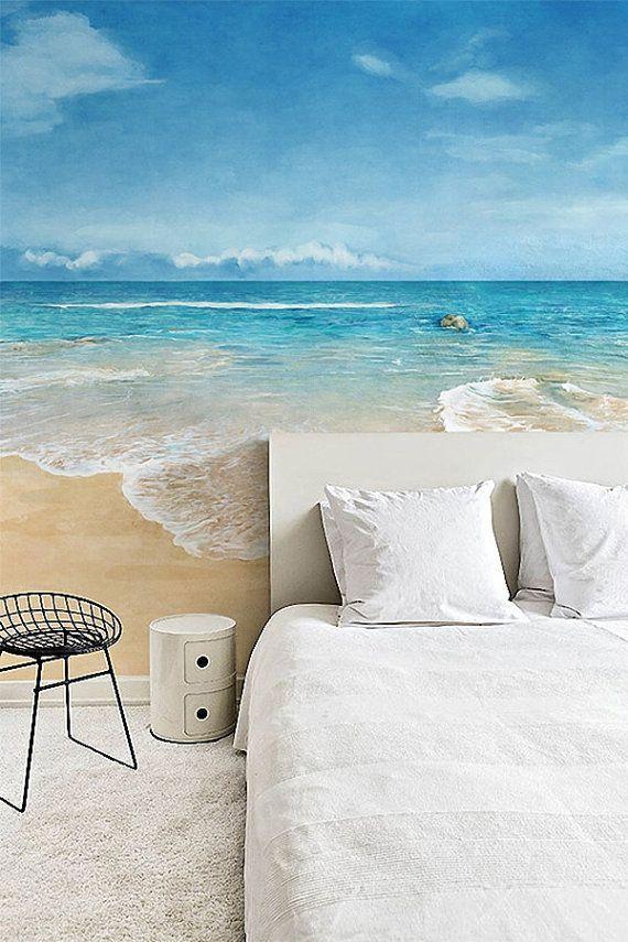 beach scene wallpaper epic sea wall mural blue ocean by dreamywall