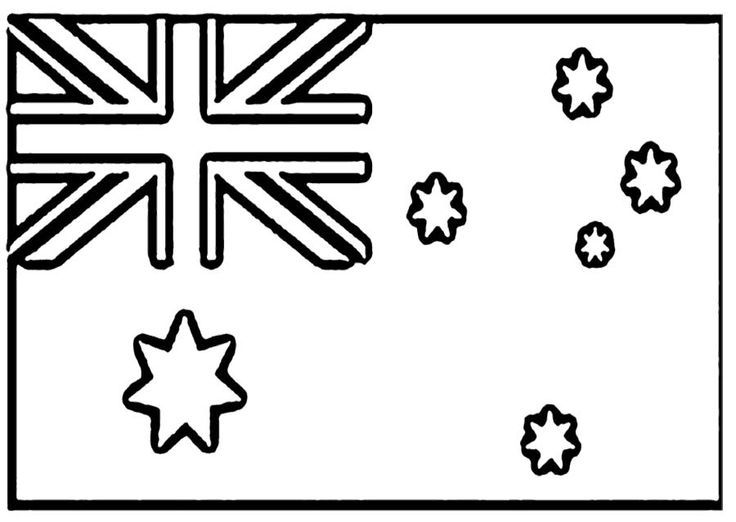 Australia World Thinking Day Board Australia Flag Coloring Page