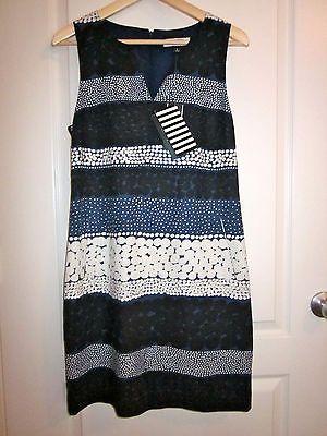 Banana Republic Marimekko Blue Jurmo Shift Dress Work Sz 6 | eBay