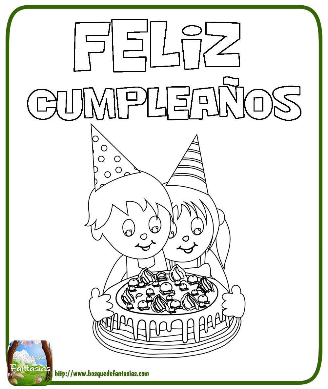 feliz cumpleaños letras para colorear | Dibujos para colorear ...