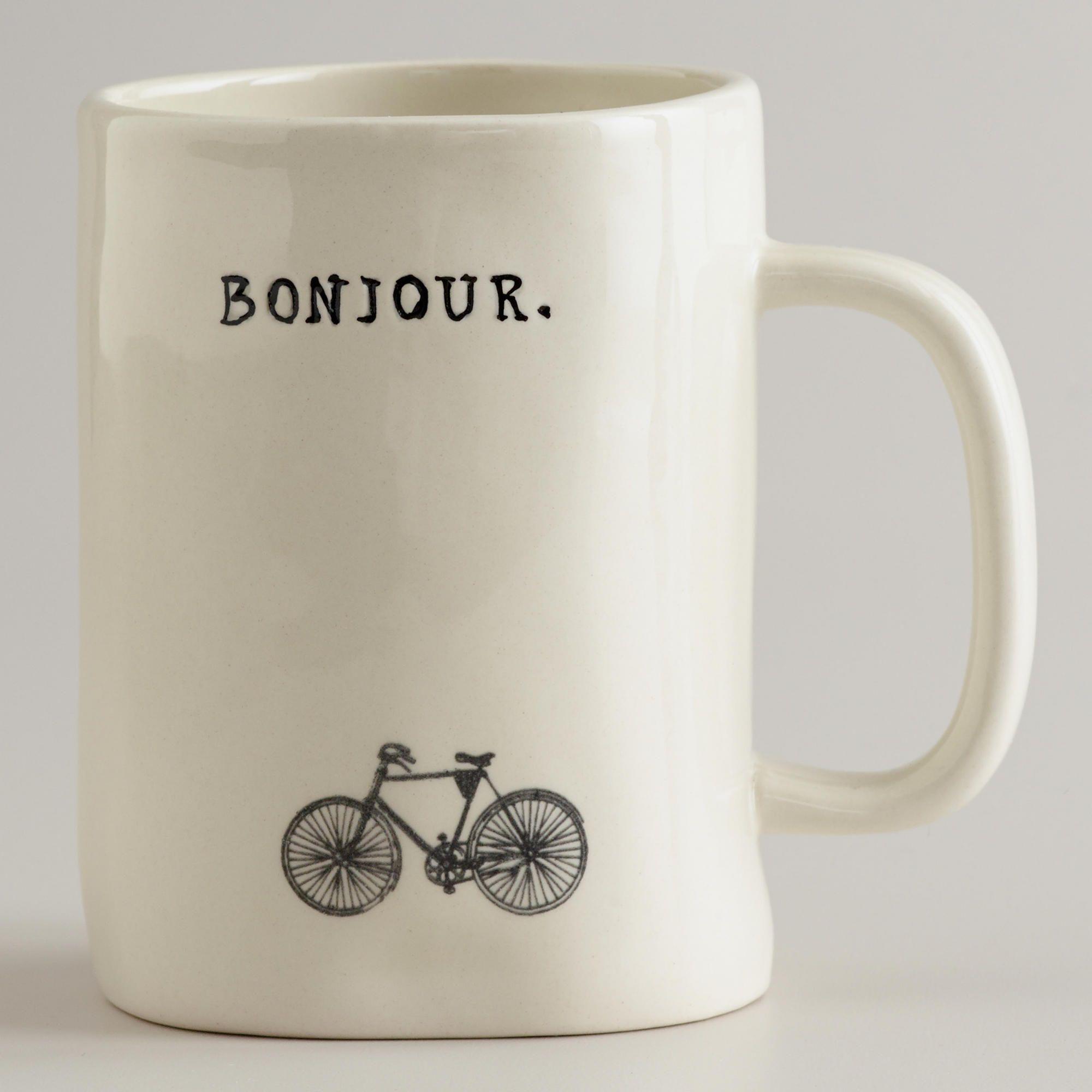 Bonjour Bike Mug World Market Mugs, Tea mugs, Coffee mugs