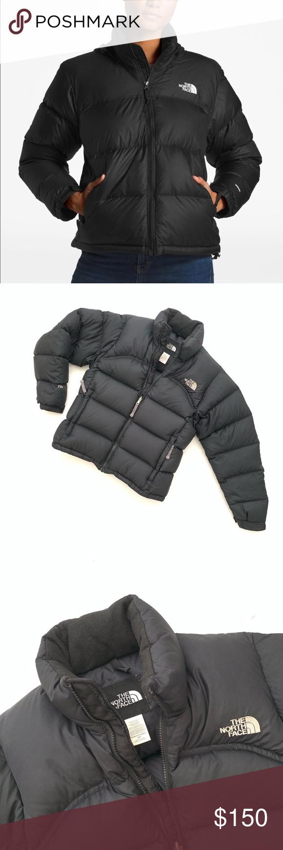 The North Face Nuptse 700 Goose Down Jacket Black North Face Nuptse Black North Face Fall Winter Coat [ 1740 x 580 Pixel ]