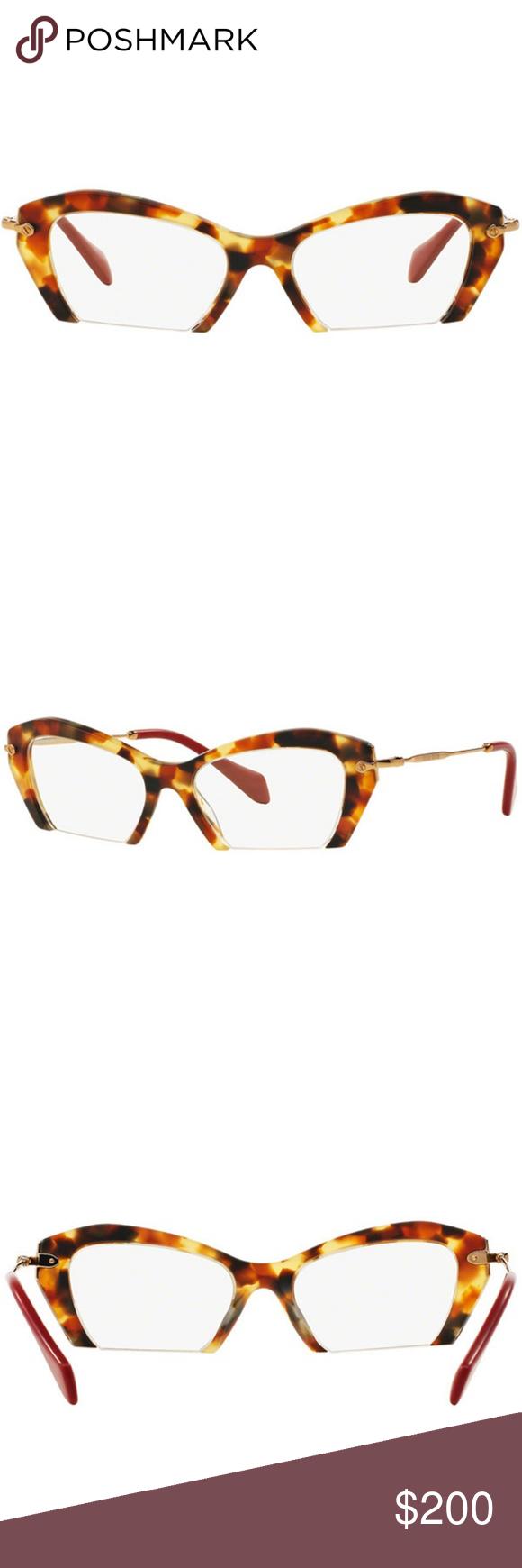 77f97eae8dba Miu Miu Cat Eye Havana Eyeglasses Brand  Miu Miu Model  MU03OV-UA51O1-