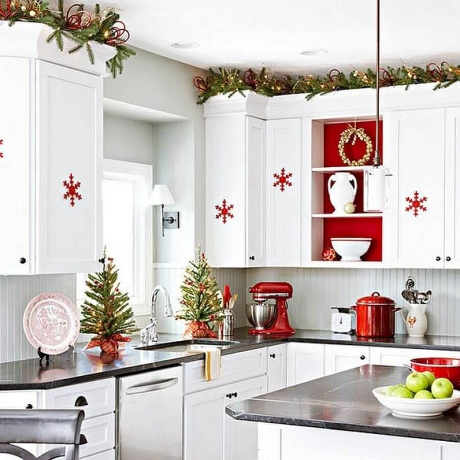 6 Joyful Christmas Kitchen Decor Ideas | Christmas kitchen, Kitchen ...
