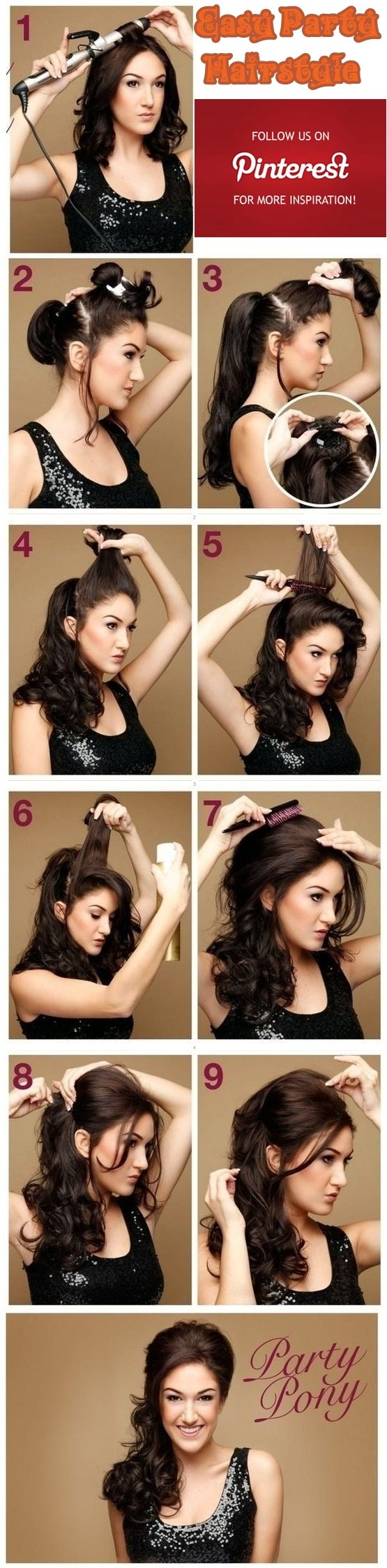 Easy Holiday Hairstyle This Evening Hairstyle For Long Hair With His Hands Suitable For Any Special Occasion Be It Hair Styles Long Hair Styles Hair Beauty