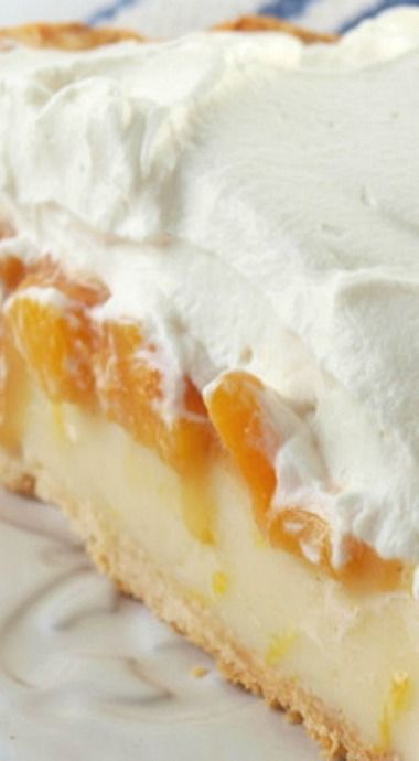 Peach Cream Pie - A Bryce's copycat - Bryce's is a cafeteria in Texarkana, TX