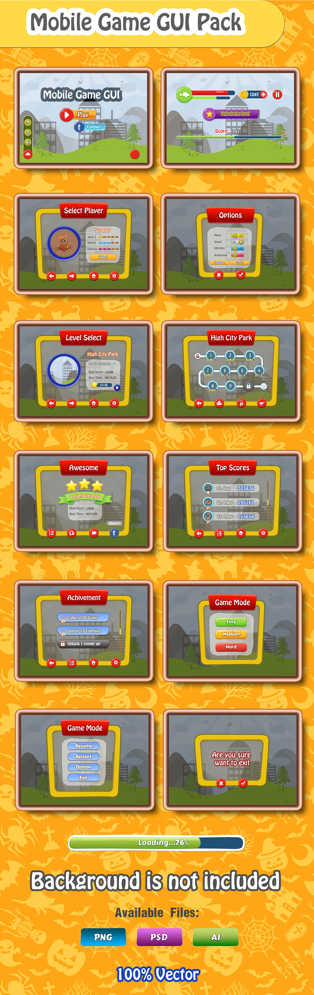 mobile game gui free download download free psds website