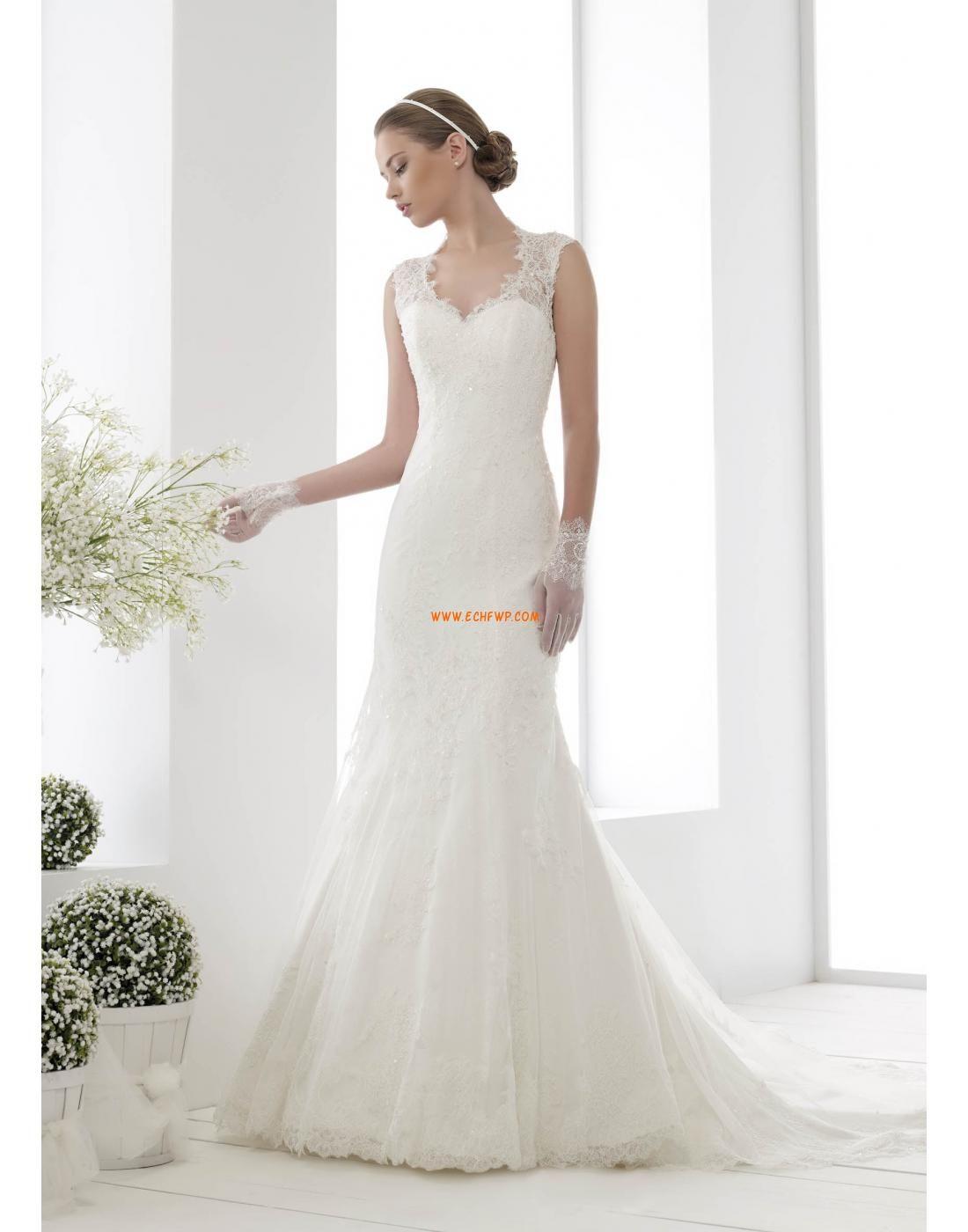 Natural wedding dresses  MeerjungfrauLinieMermaidStil SpitzenLooks Rückenfrei