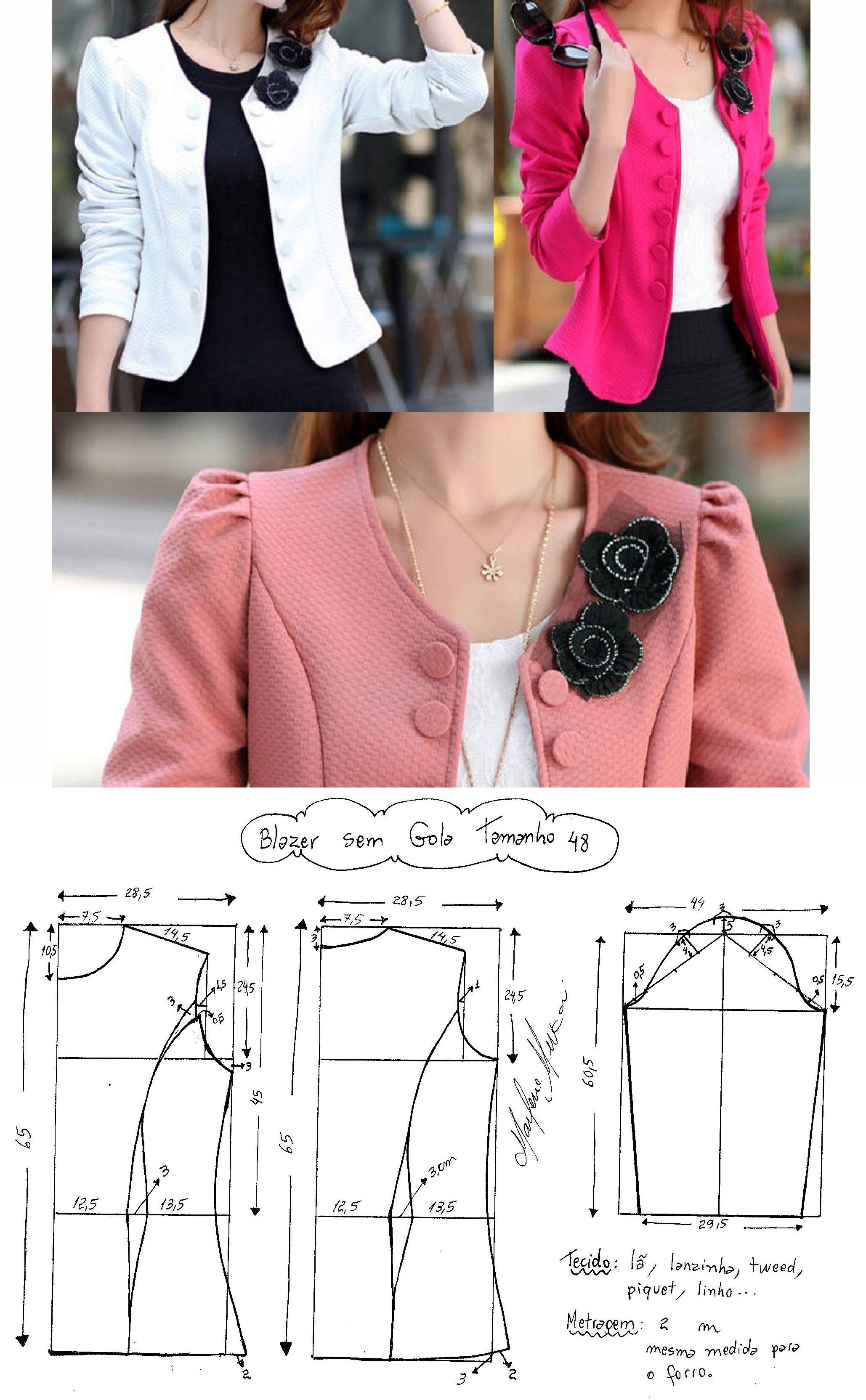 blazer остальные расмеры тут… | Moda | Pinterest | Costura, Molde y ...