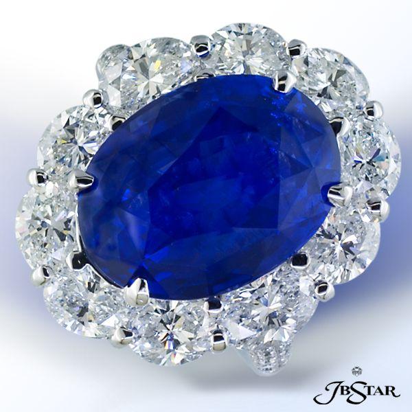 Platinum Sapphire, & Diamond Ring