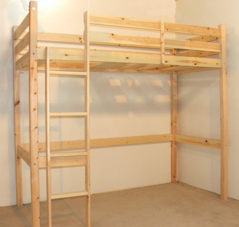 Lovely Icarus 3ft LOFT Heavy Duty Solid Pine Bunk Bed Model - Simple solid bunk beds Minimalist